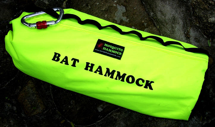 high visibility stuff sack containing bat hammock and cone fly  bat hammock   www mosquitohammock    rh   mosquitohammock