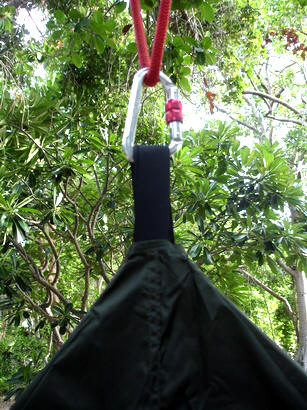 cone fly has a small hole and loop at the top to slide over the hammock loop  bat hammock   www mosquitohammock    rh   mosquitohammock