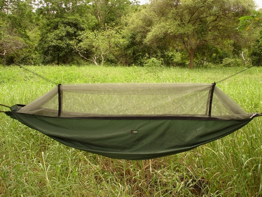Expedition Hammock blends in well with the nature.