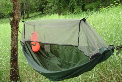 expedition hammock with fluorescent orange stuff sack  mosquito hammock    www mosquitohammock      jungle hammock      rh   mosquitohammock