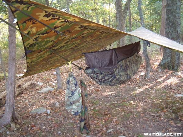 Rick Ashworth's Jungle Hammock in action on Ponderosa Island