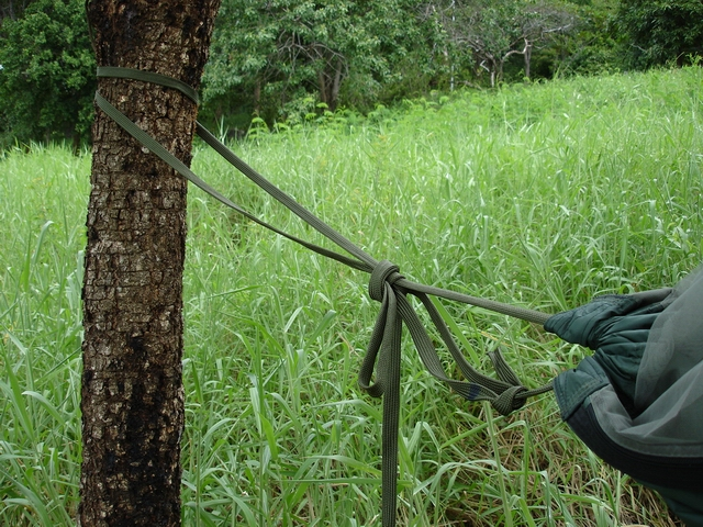 tying tree a training hammock wonderhowto survival tie hanging knots how to