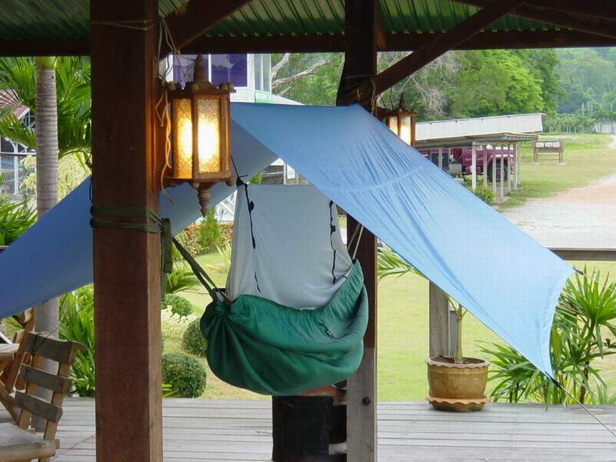 Mosquito Hammock and Rain Fly (click to enlarge).